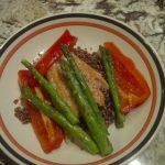 Red quinoa and Wild Pacific Salmon
