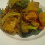 Vegan Coconut Squash & Lentils