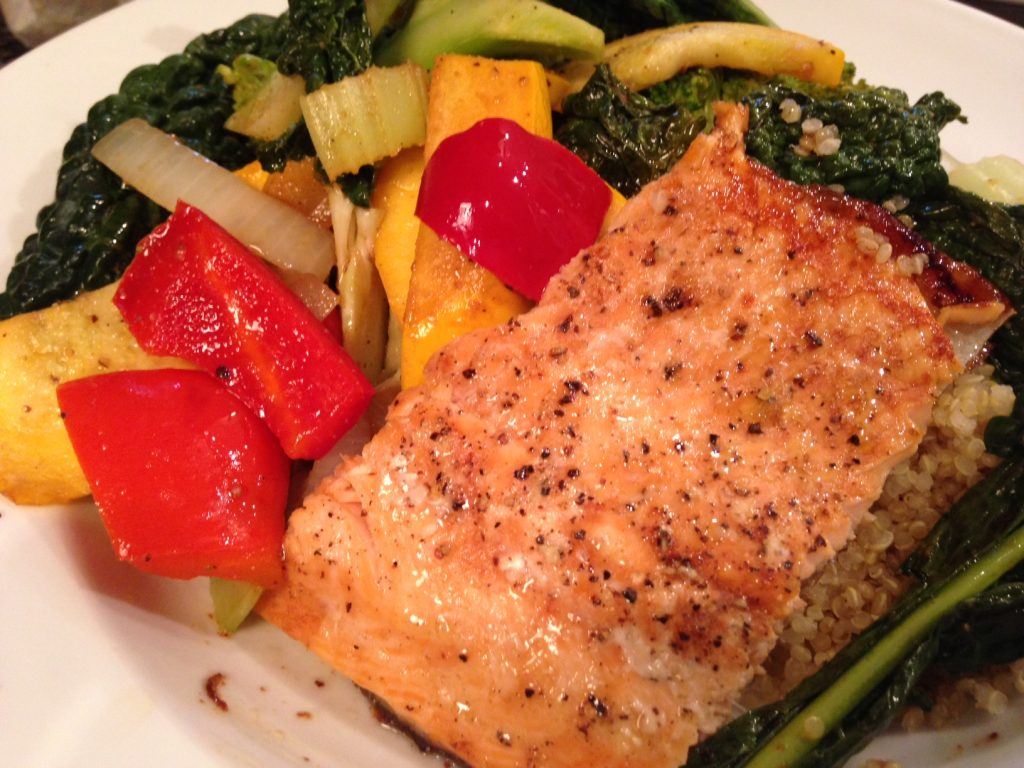 Maple balsamic glazed salmon healthy eating active living for Salmon fish nutrition